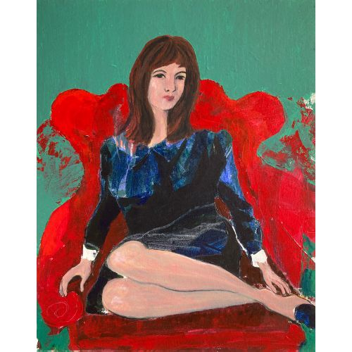 Girl in a Red Chair